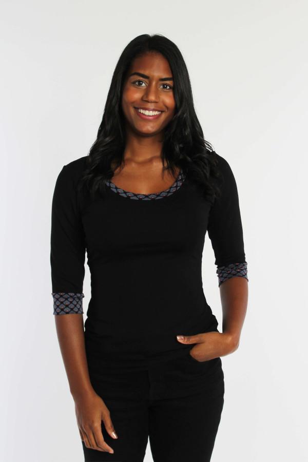 Jerseyshirt in schwarz