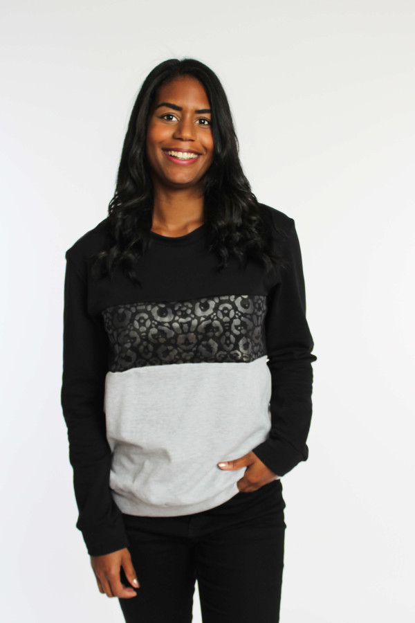 Pullover mit Leoprint