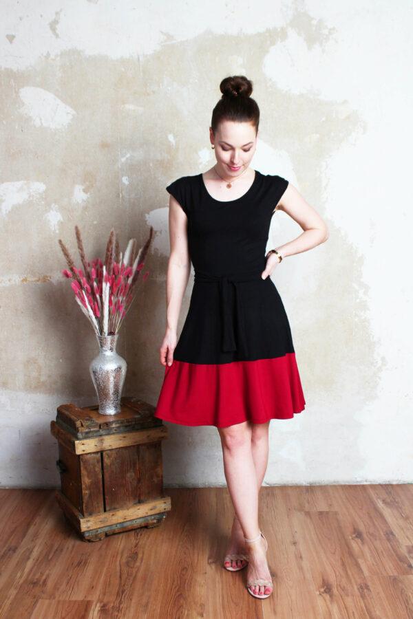 Sommerkleid schwarz/rot