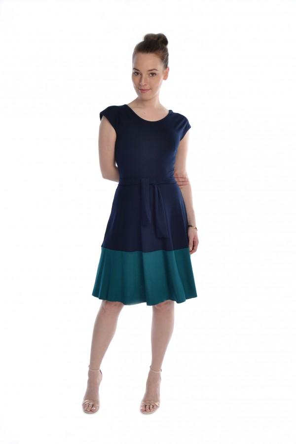 Jerseykleid dunkelblau/petrol